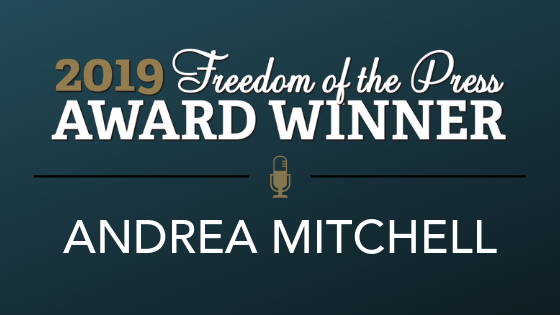 Reporters Committee honors Andrea Mitchell with 2019 Freedom