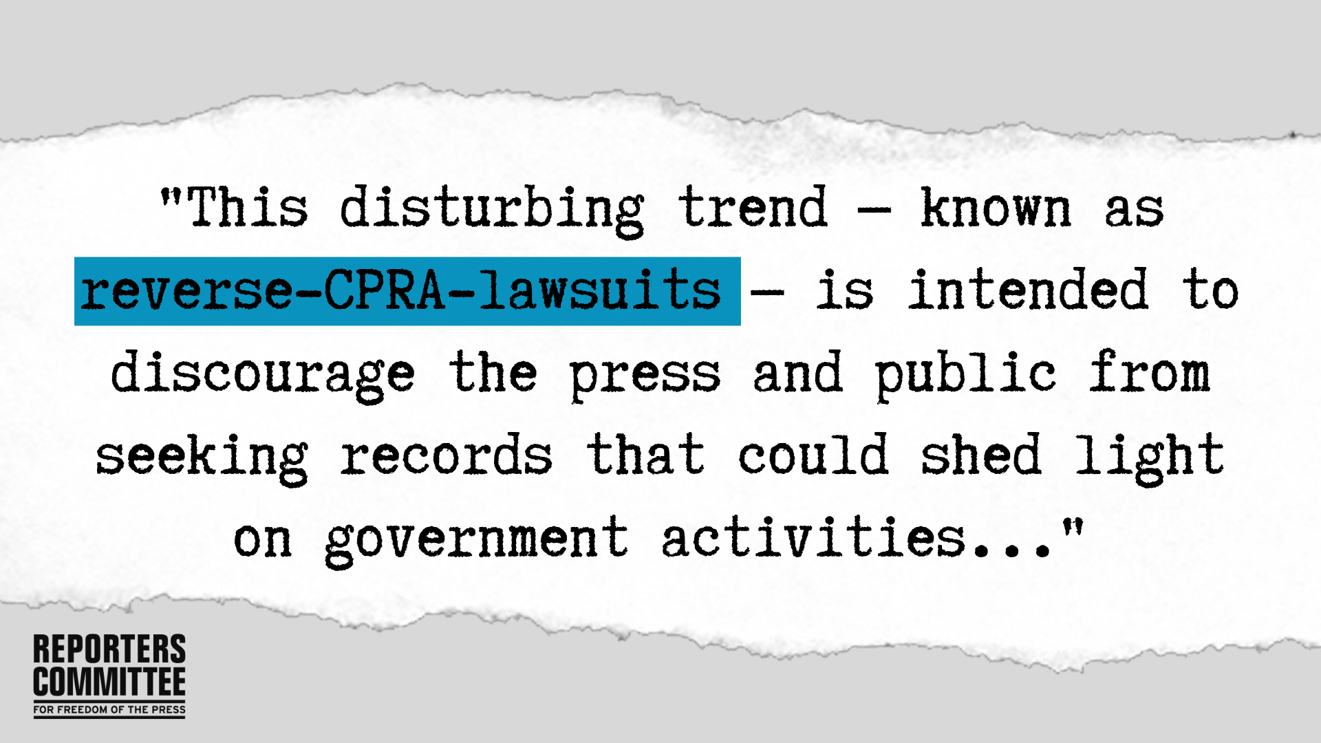 How reverse-CPRA lawsuits harm the public's right to know