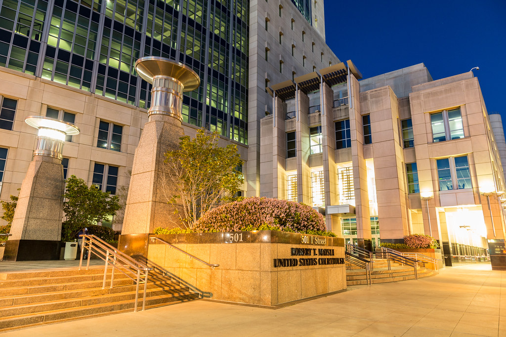 Image of a federal district court in California