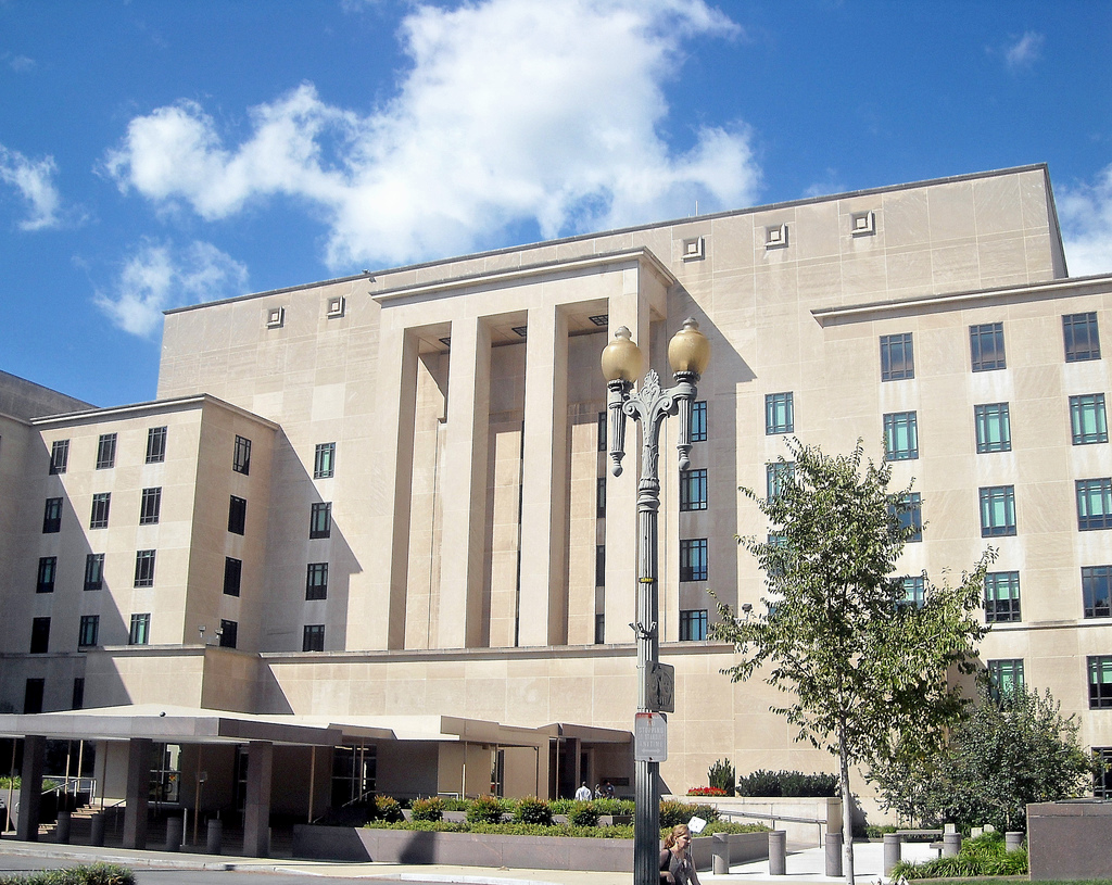 Image: The U.S. Department of State Building. Courtesy of Wikimedia Commons.