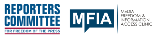 RCFP, MFIA announce Free Expression Legal Network