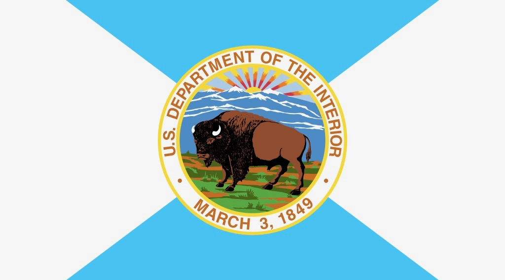 Photo of Interior Department flag