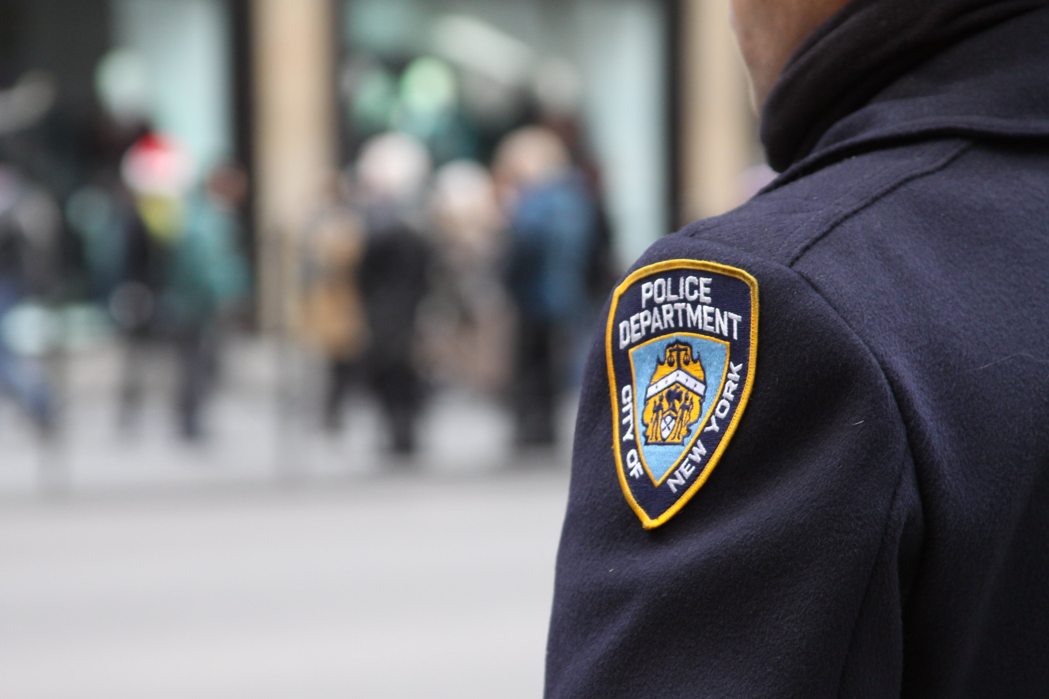 Photo of NYPD officer badge