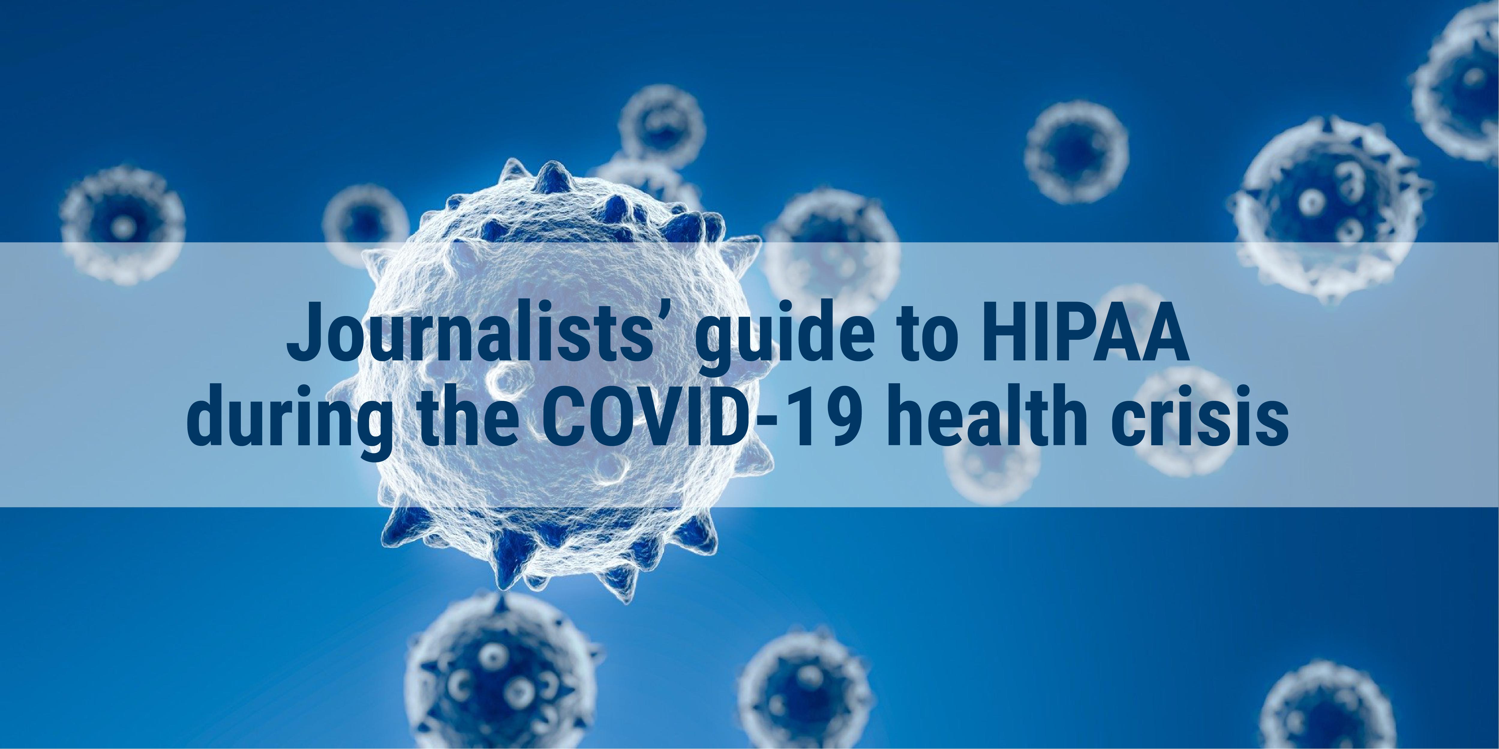 COVID HIPPA guide image