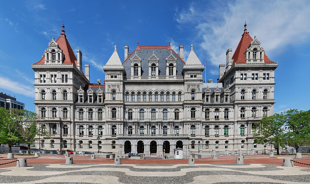Photo of New York state capitol building