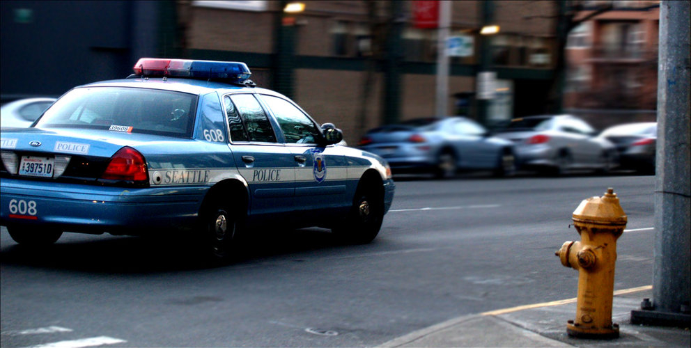 Photo of Seattle Police car. Photo by Matthew Zalewski