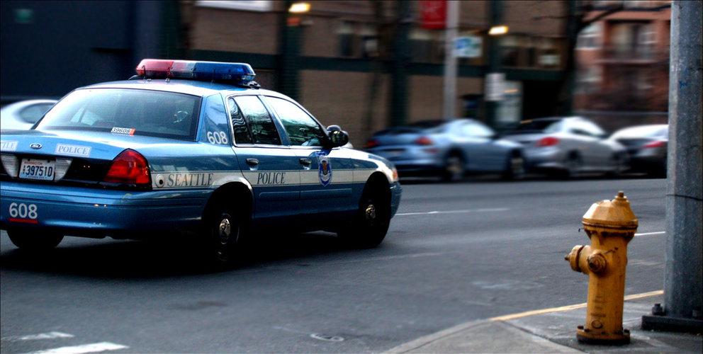 Photo of Seattle Police car. Photo by Matthew Zalewski