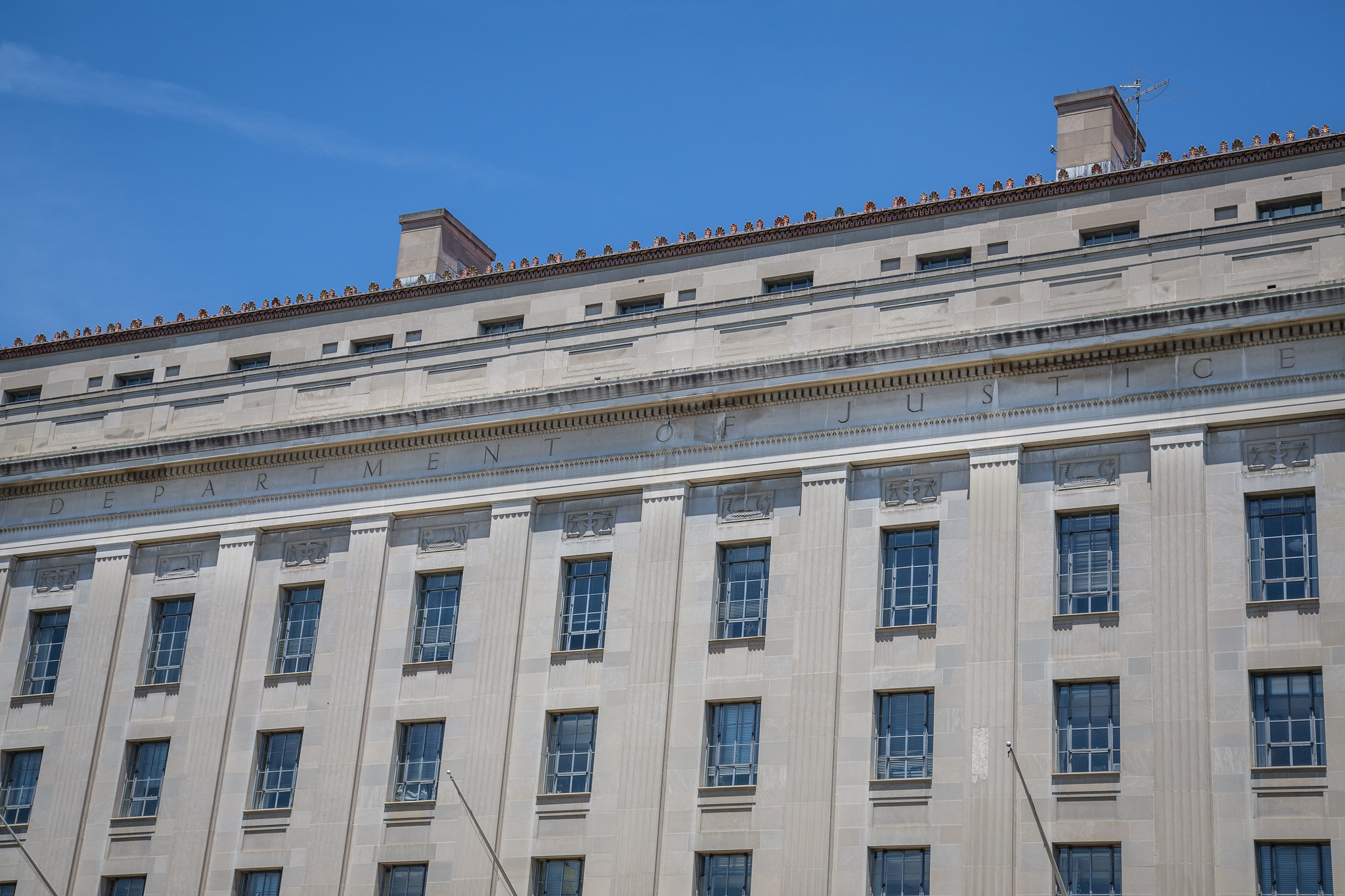 Photo of U.S. Justice Department building