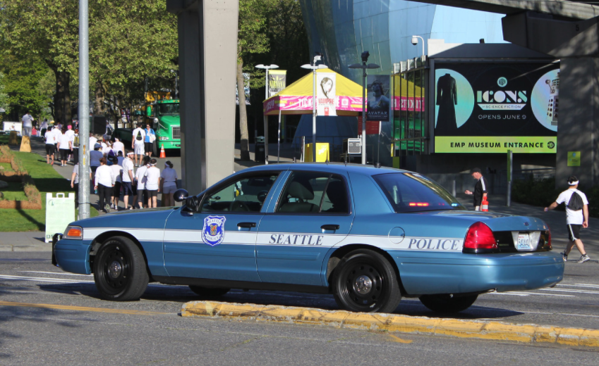 Photo of Seattle police car