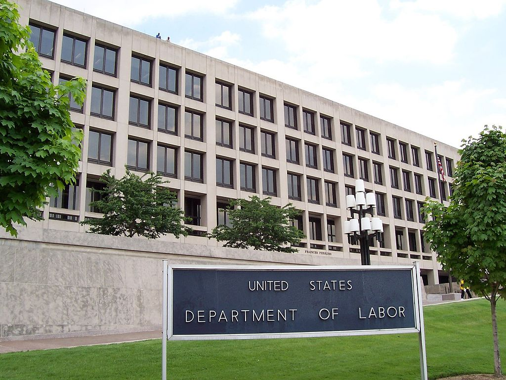 Photo of the U.S. Department of Labor building