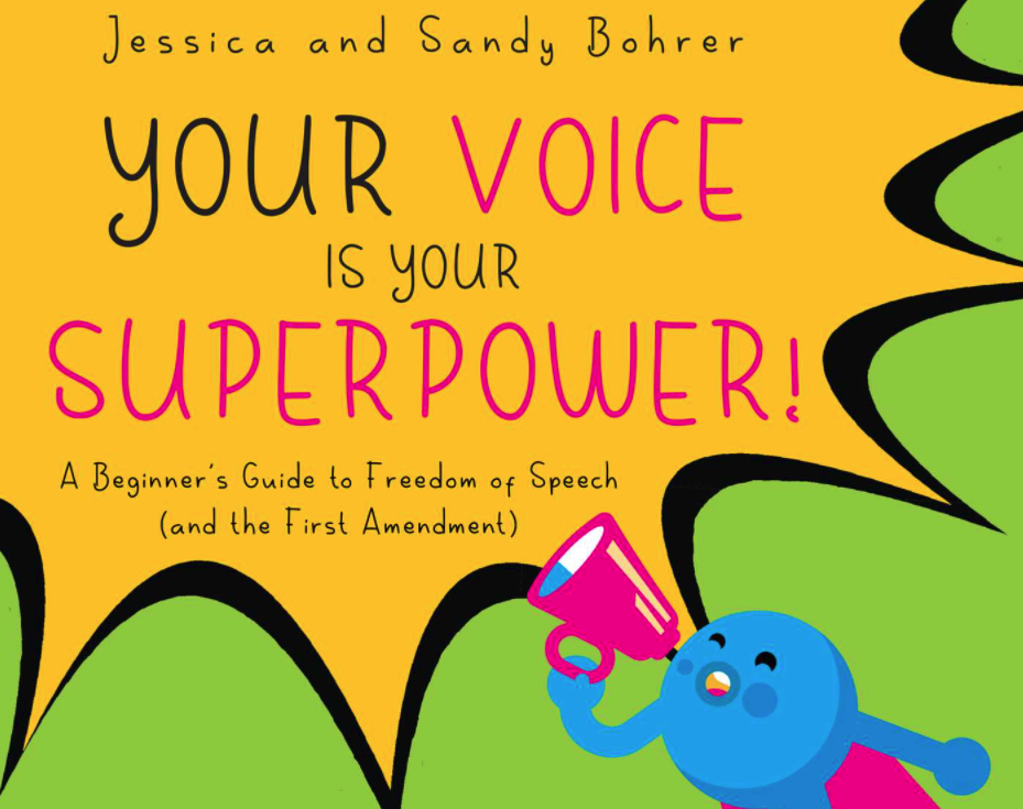 "Cover of children's book, ""Your Voice is Your Superpower"""