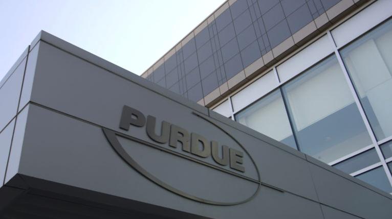 Photo of Purdue Pharma building. Photo by Douglas Healey