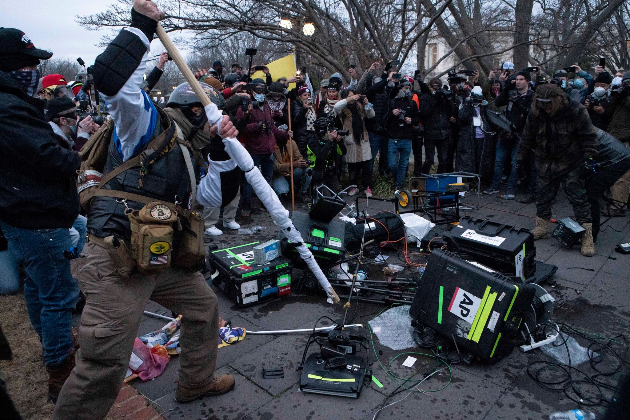 Photo of U.S. Capitol riot. AP photo by Jose Luis Magana